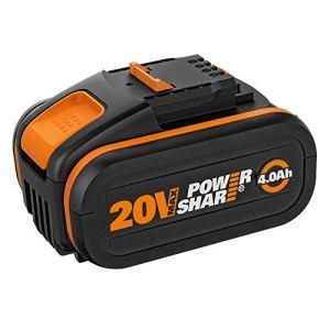 WORX WA3553 Batterie 20 V rechargeable et puissante avec indicateur de charge intégré pour tous les appareils WORX – Batterie Li-Ion 4000 mAh PowerShare