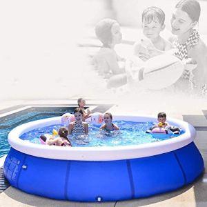 ZYUN Piscine Gonflable Pleine Taille Piscines Piscines Gonflables pour Enfants pour Bébé, Kiddie, Adultes 3 Ans Et Plus – Fête Au Sol dans Le Jardin Extérieur