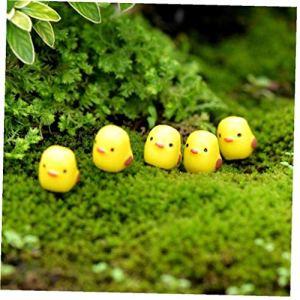 10pcs Famille D'oiseau Miniature Ornement Cartoon Animaux Fée Jardin Décoration Succulentes Enfants Mignons Miniature Décor De Cadeau De Pâques