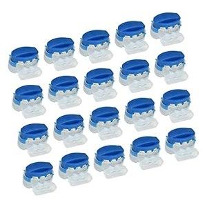 20 PCS K13 connecteurs de câble rempli de résine 314 connecteurs borniers pour Jardin extérieur Robot Tondeuse à Gazon et Voiture Tondeuse Bleu + Transparent