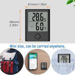 ABsuper Mini Thermomètre/Hygromètre Intérieur, Température Humidité Numérique Électronique,℃/℉Commutable,Indication du Niveau de Confort Mignon pour Maison Confortable-Noir