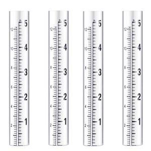 Angoily Lot de 4 tubes à essai de rechange en verre pour jardin, extérieur, matériel domestique (5 pouces).