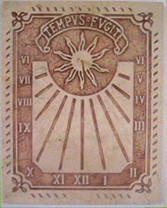 Art-Greus Cadran solaire de style romain fabriqué en pierre