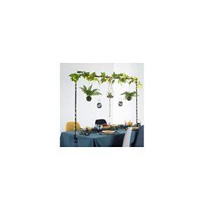 Atmosphera – Barre décorative de Table Ajustable jusqu'à 2 mètres en métal Noir pour extérieur ou intérieur