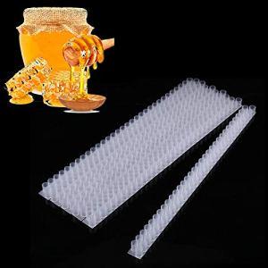 Bande de barre à double cellule, de haute qualité, s'attache facilement à 63 coupelles à cellules, outils d'apiculture blancs pour les apiculteurs