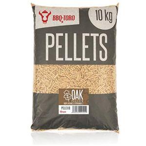 BBQ-Toro Oak Pellets en Bois de chêne 100% | 10 kg | Pellets de chêne pour Barbecue, fumoir, Four à Pizza à pellets et systèmes de Chauffage | Pellets à Griller