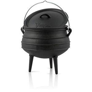 BBQ-Toro Potjie #2 avec Pieds   6 litres   Chaudron de sorcière en Fonte   Pot de Cuisson en Fonte   Four néerlaandais sud-Africain