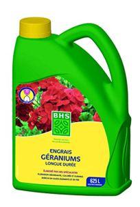 BHS EGE2 Engrais Geraniums    2,5 L   Soit 625 L   Forte Concentration en Potasse pour Un Développement, Fabriqué en France