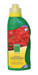 BHS EGEPB1 Engrais Geraniums Box   1,25 L   Soit 300L   Forte Concentration en Potasse pour Un Développement, Fabriqué en France