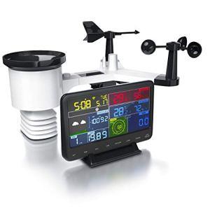 Brandson – Station météo sans fil avec capteur extérieur 7en1, weather station connectée WiFi, prévisions météorologiques via APP, anémomètre, pluviomètre, thermomètre, hygromètre, baromètre,heure DST