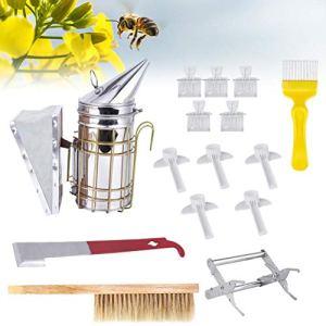 BTOSEP Outil d'abeille, 15 pièces/Ensemble d'outils d'apiculture Kit Accessoire d'apiculture Solide Fournitures d'apiculteur durables