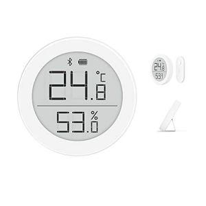 Cleargrass Détecteur de température et d'humidité Bluetooth Haute précision Version H, Moniteur de Chambre Prise en Charge du contrôle de périphérique Intelligent Homekit