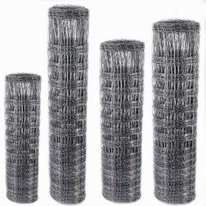 Clôture à gibier robuste 50 m Aquagart 150/19/15 I Treillis noué pour clôture hauteur 150 cm, 19 fils horizontaux largeur de mailles : 15 cm