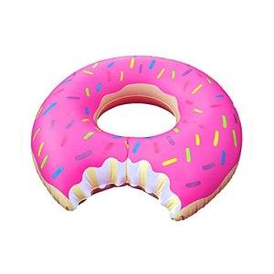 Creative Donut Float Tube drôle gonflable durable Jumpo Gigantesque flotteur pour Natation Natation Rose d'alimentation