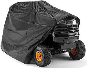 CRMY Housse de Tondeuse autoportée, Housse résistante à l'eau pour Tracteur de Jardin autoporté, Housses de Tracteur résistantes et imperméables à la Protection UV(78 * 46 * 55 Pouces)