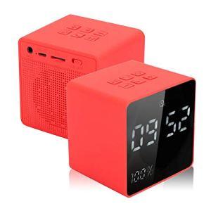 DAUERHAFT Horloge électronique Haut-Parleur Bluetooth Haut-Parleur Portable Puissant pour la Maison avec Affichage de la Batterie et de l'horloge