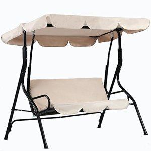 dDanke Bâche de rechange pour balançoire de jardin résistant aux UV 195 x 125 cm pour terrasse extérieure 3 places
