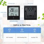 DOQAUS Thermomètre Intérieur Extérieur Station Météo Numérique Hygromètre sans Fil Résistant au Froid et Étanche Indicateur de Température et D'humidité