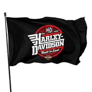 Drapeau Harley Davidson – En polyester – Décoration de jardin en extérieur – 90 x 150 cm