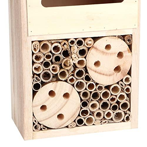 Emoshayoga Habitat d'insectes nichoir Chambre d'insectes en Bois Maison d'insectes de Haute qualité Maison d'insectes Abeille pour Jardin pour Insectes(Type B, Blue)