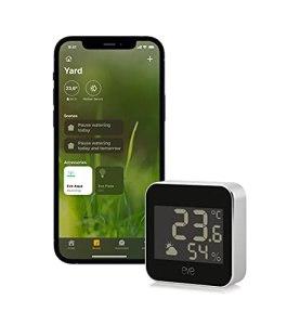 Eve Weather – Station météo connectée avec technologie Apple HomeKit pour le suivi de la température, du taux d'humidité et de la pression atmosphérique, tendance météo, IPX3, Bluetooth, Thread