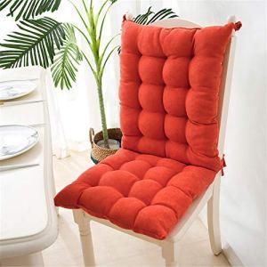 EXQULEG Coussin de chaise à dossier bas – Coussin de chaise – Coussin de chaise pour extérieur et jardin – 40 x 95 x 8 cm – Orange
