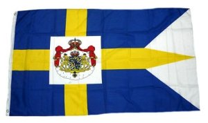 FahnenMax drapeau de la suède royal armoiries 90 x 150 cm