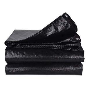 FCXBQ Grand Tissu d'ombrage de bâche imperméable Noir de bâche résistante de Poly pour la verrière extérieure de Couverture de pergola, Pliable Robuste avec des œillets, 160 G/M & sup2;Bâche im