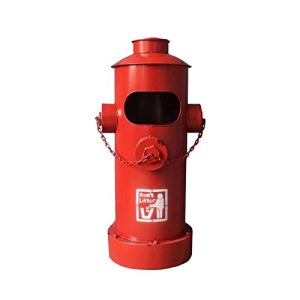 FEANG Poubelle Poubelle Industrielle rétro avec Godet intérieur de Grande capacité Poubelle de Bouche d'incendie pour Jardin de Parc Boîte à ordures (Color : Red)