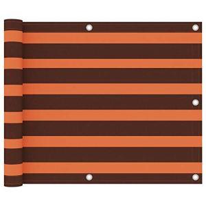 Festnight Écran de Balcon Paravent Extérieur Brise-Vue Orange et Marron 75×500 cm Tissu Oxford