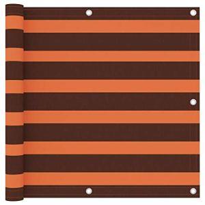 Festnight Écran de Balcon Paravent Extérieur Brise-Vue Orange et Marron 90×300 cm Tissu Oxford