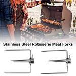 GaoF 2 pièces fourchettes à Viande rôtissoire Fourche à Broche multifonctionnelle en Acier Inoxydable Fourchette à Quatre Griffes Barbecue Accessoires de Barbecue en Plein air
