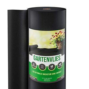 GardenGloss 50m² Toile de Paillage Anti Mauvaises Herbes 50 g/m² – Film Géotextile Anti Mauvaises Herbes Indéchirable – Perméable à l'eau et Stable Aux UV (50m x 1m, 1 Rouleau)