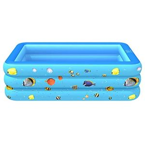 gujiu Piscine Gonflable carrée Piscine, Maison intérieur et extérieur Piscine bébé (Couleur: Bleu Vert, Taille: 260cm, 300 cm (Trois étages)) (Color : 1, Size : 300 * 175 * 55CM)
