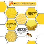 Happyyami 30 Pièces Apiculture Fondation en Nid d'abeille Naturel Ciré Rite-Cellulaire Fondation Ruche Coupe en Nid d'abeille Apiculture Élever Outil