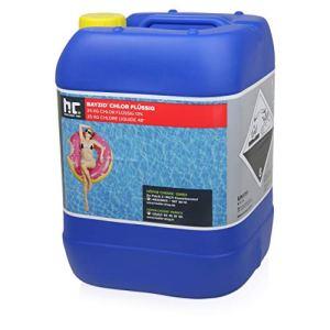Höfer Chemie 2 x 25 kg Chlore liquide 48° pour piscine avec une teneur en chlore actif de 13 à 15% pour l'entretien des piscines et la désinfection de l'eau – Made in Germany