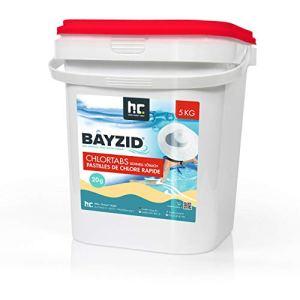 Höfer Chemie 5 kg BAYZID pastilles de Chlore pour Piscine 20 g HAUTEMENT EFFICACES Rapidement solubles avec Une teneur en Chlore Actif de 56%