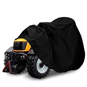 Housse de Tondeuse à Gazon Autoportees, Housse de Tracteur de Pelouse Tissu Oxford Imperméable Anti-UV Anti-poussière pour Jardin Extérieur Noir (Color : XS)