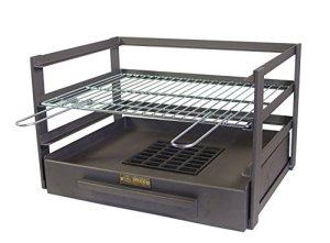 IMEX EL ZORRO 71475.0tiroir Barbecue avec Grille zinguée, Noir, 57x 41x 35cm