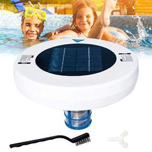 Ioniseur solaire pour piscine – Cuivre argenté – Ioniseur – Nettoyeur de piscine – Nettoyeur de piscine – Nettoyage de l'eau en plein air