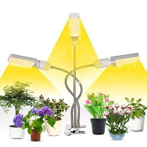 Lampe pour Plante,156 LEDs Lampe de Croissance, Lampe Pour Plante 3 Têtes Lampe Croissance 72W Spectre équipée de Cou Cygne Flexible 360°, 3H / 6H / 12H pour Plantes,Fleurs,et Légumes Intérieur.