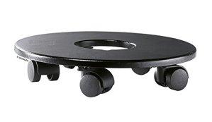 LECHUZA 13503 Support à roulettes Cube Cottage Cursivo 50 Classico Premium 60 Noir, Durchmesser: ca. 36cm