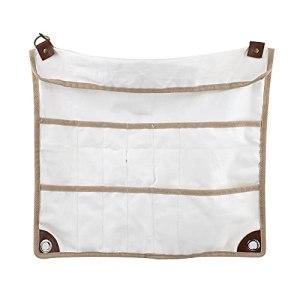 LIAWEI Sac de rangement pour vaisselle de camping, pochette à couverts étanche, portable, à suspendre, pour barbecue, baguettes de pique-nique, transport en plein air, enroulable avec plusieurs poches