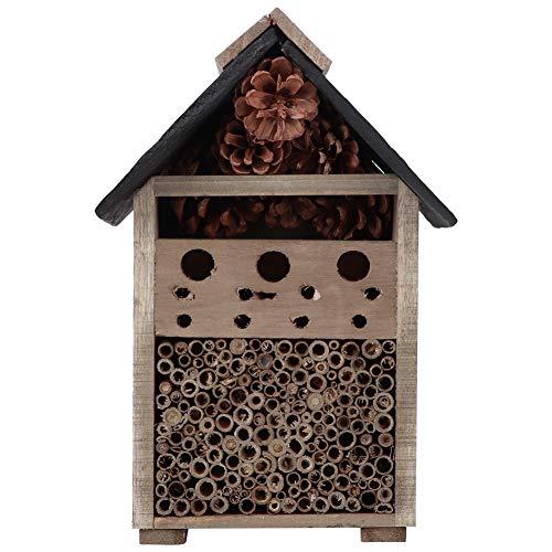 Linel Maison d'insectes – Jardinage Maison d'insectes en Bois Artisanat en Bois décoration de Maison de Nidification Ornement pour Insecte