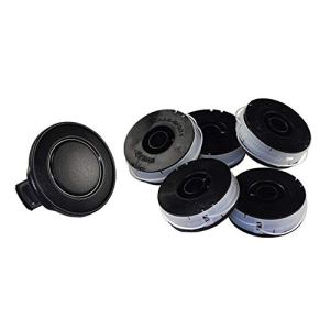 Lot de 5 bobines de rechange avec capuchon, compatibles avec les coupe-bordures Florabest FRT 450 A1 IAN 56211, FRT 450 A1 IAN 68693