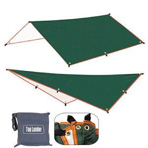 Lzcaure Voile d'ombrage 3 x 4 m – Abri solaire imperméable – Tente ultralégère – Auvent de jardin, camping, hamac de plage