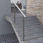 Mains courantes d'escalier en Acier Inoxydable à l'intérieur – Degré réglable – Rampe de 120 cm pour escalier extérieur de Jardin de Balcon