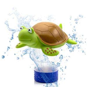 Malsyee Distributeur de chlore flottant pour piscine en forme de tortue
