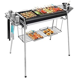 N/Z Ensemble d'outils de barbecues faciles en Acier Inoxydable 5 ou Plus Simple 5 ou Plus Portable Pliable Multi-Outils Home Friends Outdoor