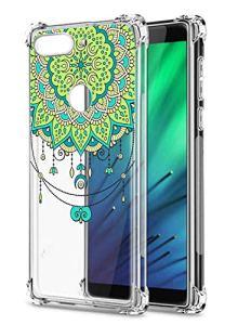 Oihxse Transparent Coque pour Xiaomi Redmi 7 Souple TPU Silicone Protection Etui Air Cushion [Shock-Absorption] [Anti-Rayures] Fleurs Motif Housse Bumper (B2)